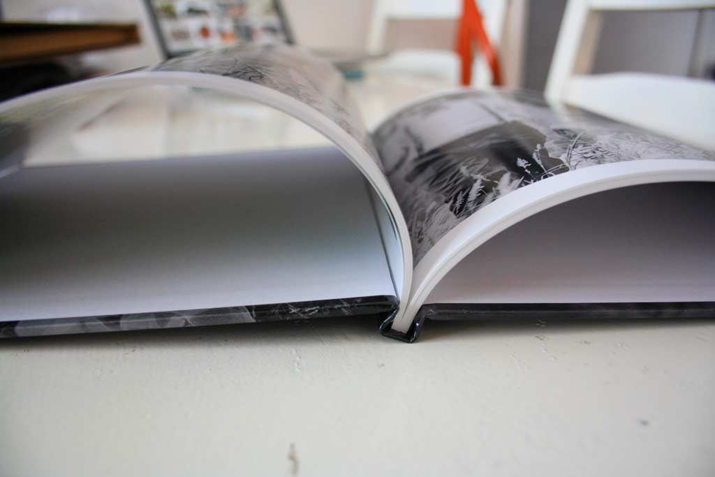 Beautifully bound wedding guest book