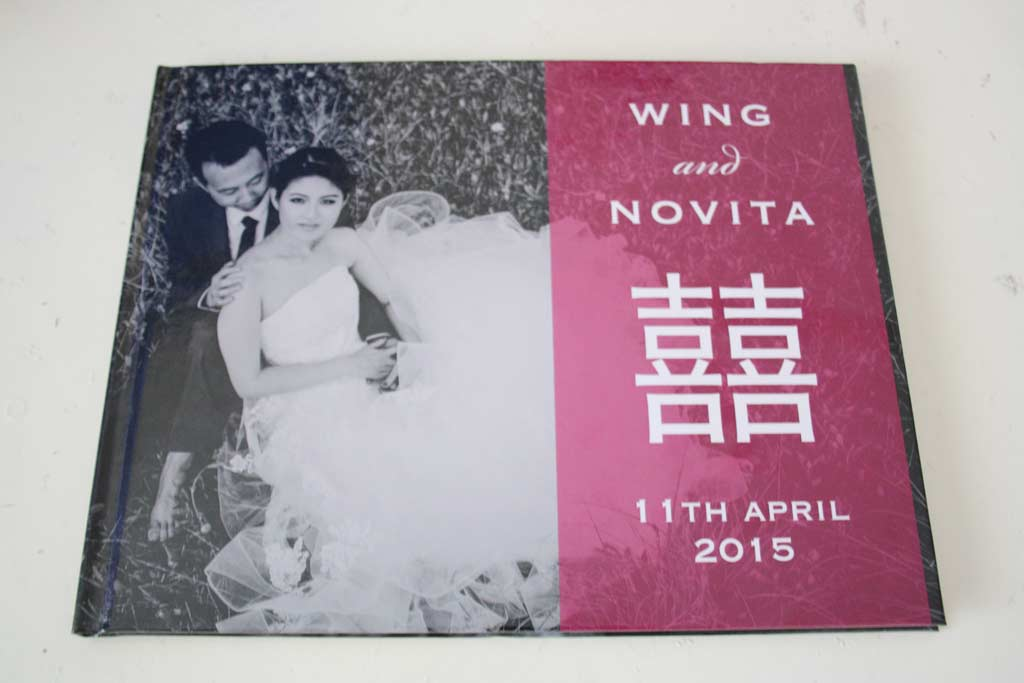 Wedding Guestbook for Wing and Novita
